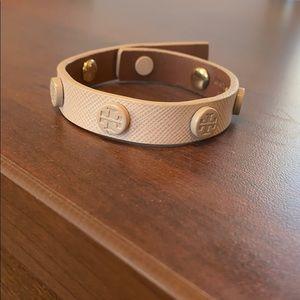 Tory Burch Pale Pink Wrap Bracelet